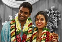 Hemachandra & Sravana Bhargavi @ their Marriage