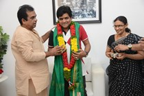 "Brahmanandam @ Felicitating Ali for being honoured with ""Doctorate"""