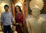 Hema Malini and Aditya Thackeray @ Society Collection & Exhibition Inauguration