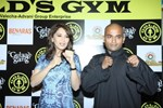 Madhuri Dixit @ Promotes Gulaab Gang at Gold's Gym