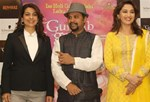 Juhi Chawla and Madhuri Dixit @ 'Gulaab Gang' Movie Promotion