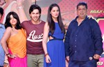 Varun Dhawan, Nargis Fakhri, Ekta Kapoor and David Dhawan @ 'Main Tera Hero' Movie Music Launch