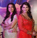 Madhuri Dixit and Juhi Chawla @ 'Gulaab Gang' Movie Special Screening