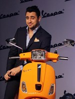 Imran Khan @ Launch of 'Vespa S' Scooter