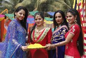 Colors TV Serials Stars Madhubala, Bani and Beintehaa @ Celebrate Holi