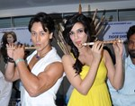 Tiger Shroff and Kriti Sanon @ Launch of 'Whistle Baja' song from 'Heropanti' Movie