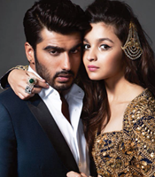 Arjun Kapoor and Alia Bhatt @ Photoshoot for Harpers Bazaar Bride Magazine