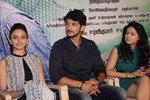 Gautham Karthik, Rakul Preet Singh and Nikesha Patel @ 'Ennamo Edho' Movie Press Meet